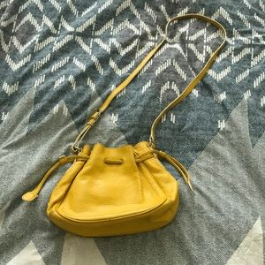 Cole Haan Crossbody Yellow Bucket Bag